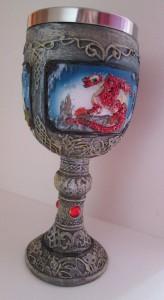 pohár drak červený